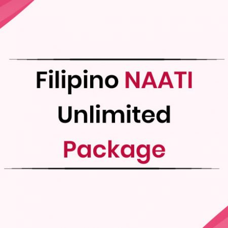 Filipino NAATI Unlimited Package
