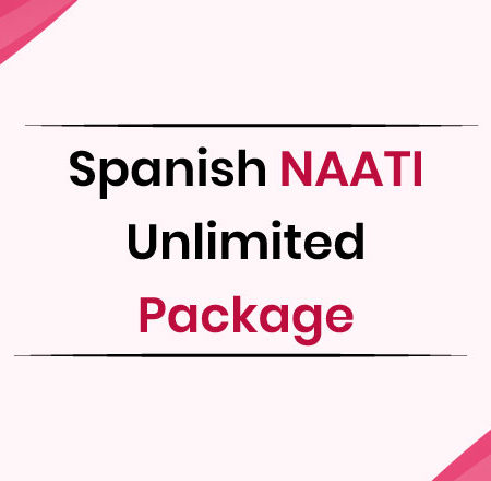 Spanish NAATI Unlimited Package
